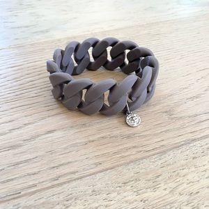 Marc by Marc Jacob's rubber link bracelet grey